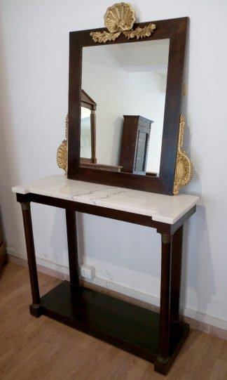 Консоль с зеркалом винтаж в итальянском классическом стиле